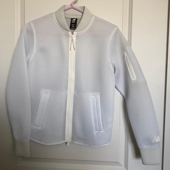 New Balance mesh bomber jacket